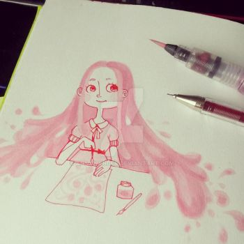 The joy of  pink ink by AnnaNander