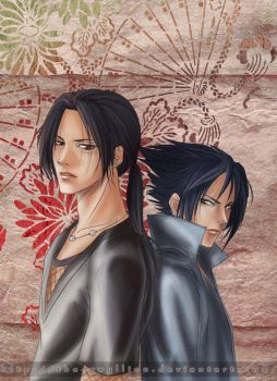 Commish : Uchiha Brothers by The-Gwyllion