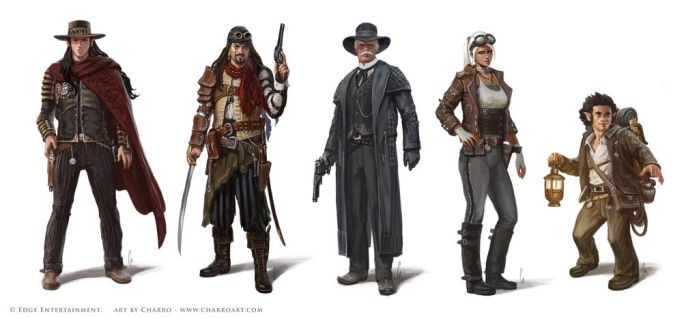 Steam States' Characters by charro-art