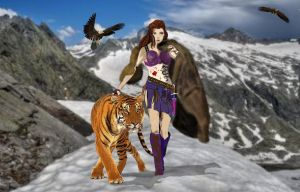A Woman With Tiger by stephenpryor