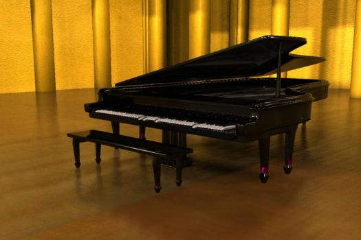Grand Piano by saunteringstep
