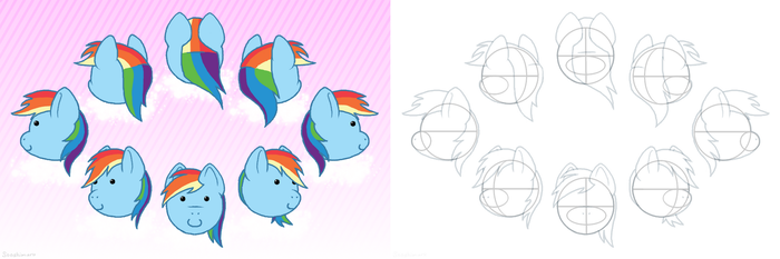 [STUDY] Rainbowdash's Head by Sooshimaru