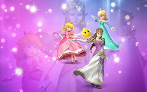Wallpaper - smash princesses - by Queen--Zelda