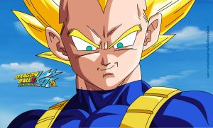 Vegeta SSJ V2 by kingvegito