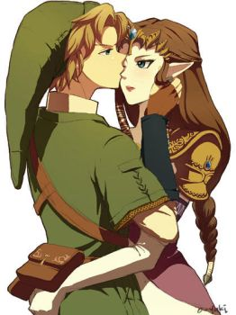 link and zelda by o-yuki-san