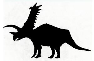 Pentaceratops shadow by SommoDracorex