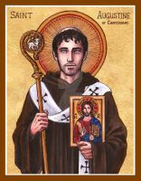 St. Augustine of Canterbury icon by Theophilia