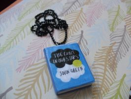 The Fault in Our Stars book necklace by InsaneJellyBean95