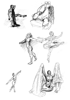 Speed sketching exercises by MadAlien71