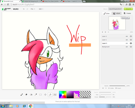 Wip 2- Natalie the hedgehog by AnaSerraTails