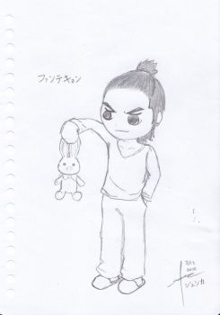 Hwang Tae Kyung with PigRabbit by Kei-Angelus