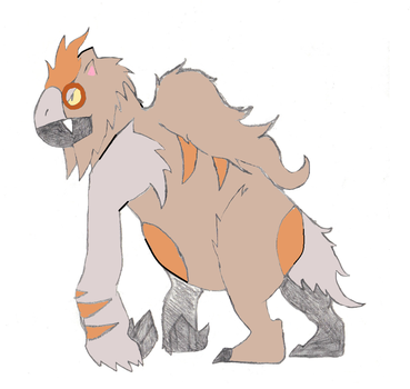 Paleo Vigoroth colored by PerfectChaos22