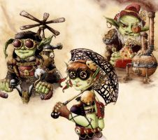 Steampunk Goblins by GrimDreamArt