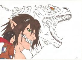 Attack on Titan: Gojira - WE FIGHT AS ONE by Tyrannuss555