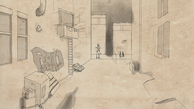 Alley Sketch by salkhan