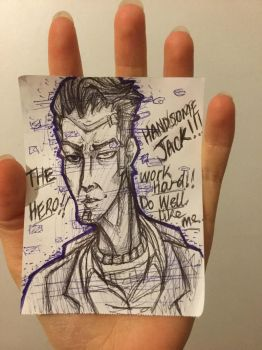 Small sketch of handsome Jack. by LonewolfTerror
