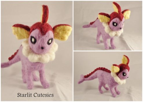 Shiny Vaporeon Poseable Plush! by StarlitCutesies