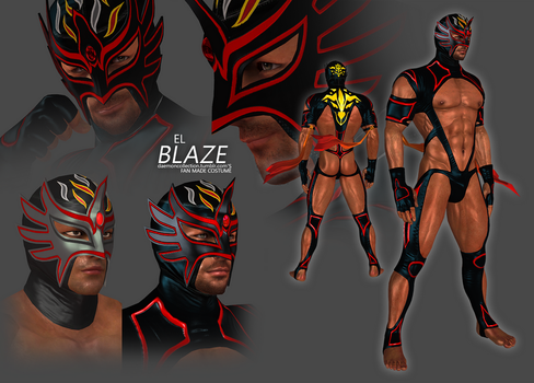 (XPS) Virtua Fighter - El Blaze (Fan Made Costume) by DaemonCollection