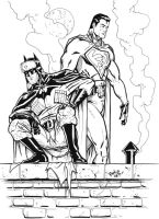 Red Son Superman and Batman by Scadilla