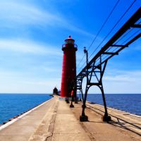 Lighthouse on the Pier by VividThorn