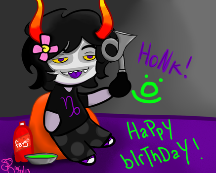 Gamzee Birthday Picture by blood-covered-devil