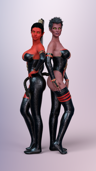 Two Devil Girls by ares32a