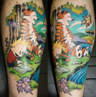calvin and hobbes tattoo by BrentSmith-aloadofBS