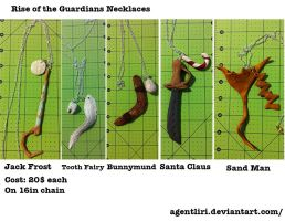 Commission: Rise of the Guardians Necklaces by AgentLiri