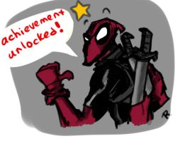 Deadpool, sketch by Ayej