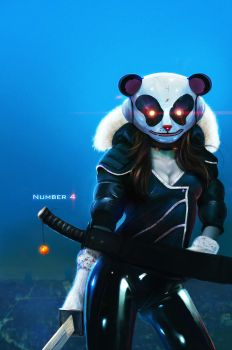 Number 4, The Panda - by DanLuVisiArt