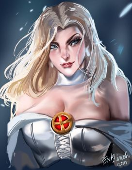 Emma Frost (Sakimichan redraw) by JackLincoln