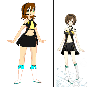 My New Vocaloid Outfit by TigerPrincessKaitlyn