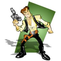 han solo by kevtoons
