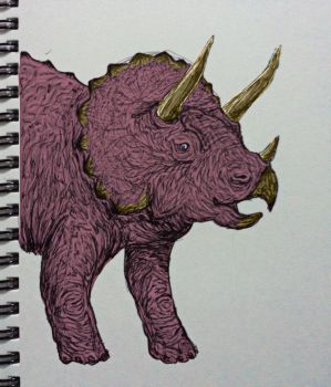 Triceratops sketch by yourviewingpleasure