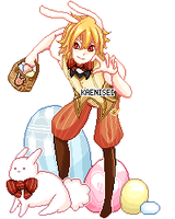 OPEN :: Pixel Easter Bunny Adopt by KaeniA