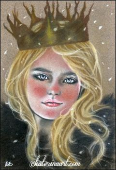 She wore her wicked crown -SKETCH by Katerina-Art