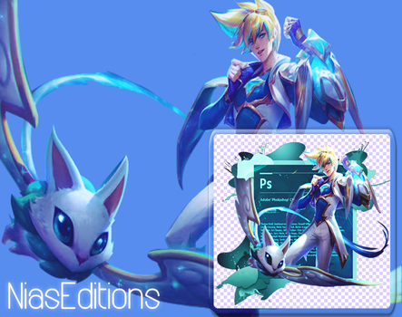 Photoshop 6 Background Star Guardian Ezreal by NiasEditions