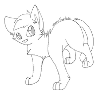 cat lineart by WarriorTigerPath