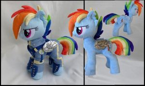 Rainbow Dash crystal wars warrior by Epicrainbowcrafts
