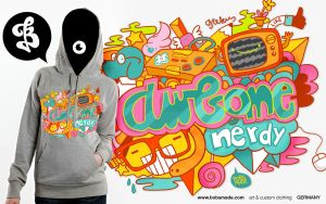 Awesome Nerdy Hoodie by Bobsmade
