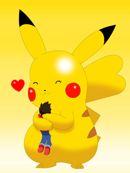Pikachu Loves you by Cansin13Art