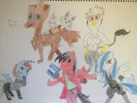 The Brony Analysis as Guadians of the Galaxy by TheEasterArt