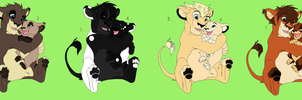 Lion Sibling Adoptables 2 CLOSED by sjsaberfan