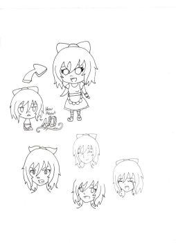 Expression practice doodles by Chibikitty09