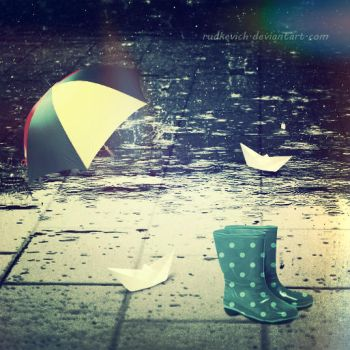 Rainy day by Rudkevich