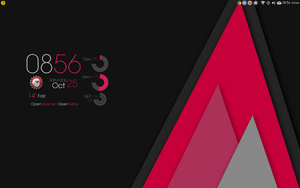 Smooth Red Rings Conky config. Conky Manager by speedracker