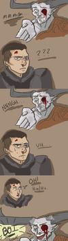 Iron Bull is the Cool Dad by peanutbunner