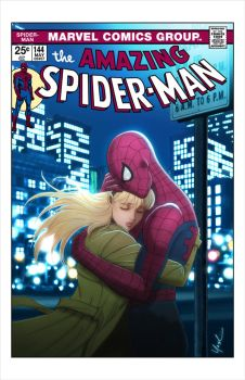 Spider-Man and Gwen Stacy Cover by Protokitty