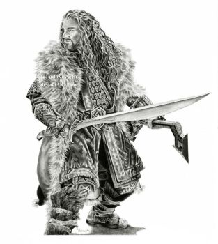 Thorin Oakenshield by adavesseth