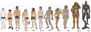 SGPA OCs - Body and height reference by Atey